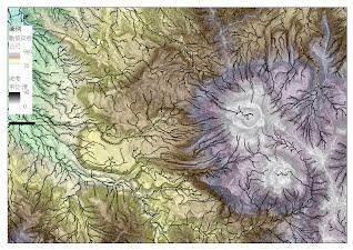 火山LiDAR地形水系特徵
